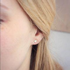 Flat Geometric Stud Earrings