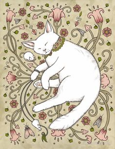 Ink on illustration board by anita inverarity / original sold Crazy Cat Lady, Crazy Cats, Snapchat Stickers, White Cats, Cat Drawing, Cat Art, Kitsch, Art Inspo, Illustration Art