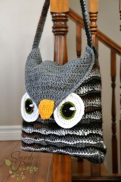 Owl Be Your Buddy Pillow Cover/Sleepover Bag Crochet pattern by Sincerely Pam Bag Crochet, Crochet Purse Patterns, Crochet Shell Stitch, Crochet Handbags, Crochet Purses, Love Crochet, Knitting Patterns, Bag Patterns, Sewing Patterns