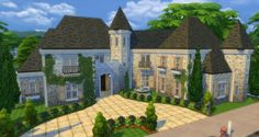 Luxury Mansion by gizky at Mod The Sims via Sims 4 Updates