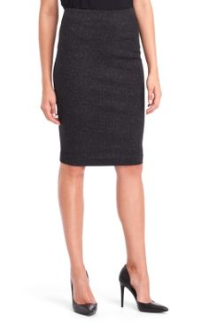 Kenneth Cole Mia Tech Fabric Pencil Skirt