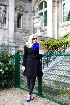 Cobalt blue scarf & shoes