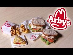 Lunch at Arby's - Arby's Inspired Miniatures - Polymer Clay Tutorial - YouTube