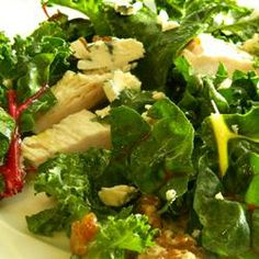 , Chicken, and Feta Salad | Raisins, toasted walnuts, and an apple ...