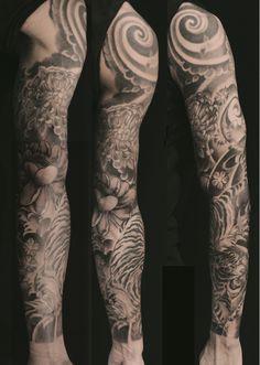 Rasta Sleeve Leg Tattoos for Men Crow Tattoo For Men, Neck Tattoo For Guys, Half Sleeve Tattoos For Guys, Half Sleeve Tattoos Designs, Leg Tattoo Men, Japanese Sleeve Tattoos, Cool Tattoos For Guys, Full Sleeve Tattoos, Tattoo Designs Men