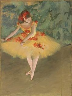 """""""Dancer Making Points,"""" 1879-1880, by Edgar Degas, pastel and gouache on paper mounted on board from the Nelson-Atkins Museum of Art in Kansas City, Missouri."""