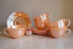 Anchor Hocking Fire King in Peach Lustre