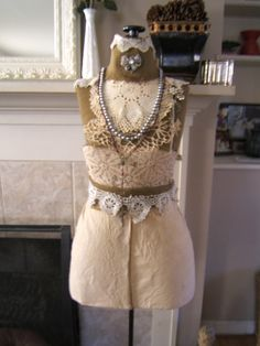 Decked Out Vintage Dress Form by antique2chic on Etsy, $450.00
