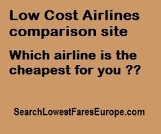 Low Cost Airlines comparison
