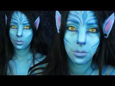 (44) Avatar Face Paint Makeup Tutorial - YouTube