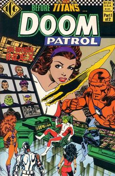 The Doom Patrol Index #1, february 1986, cover by John Byrne.