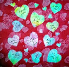 Damsel Quilts & Crafts: Candy Hearts Block