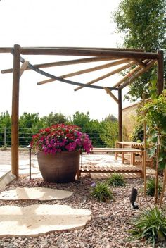 Why build a 'Plain Jane' pergola when you can have a unique pergola! Featuring pictures of unusual pergola designs including links to free pergola.