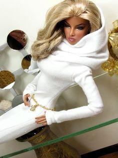 "Sensation Dress fits Fashion Royalty, Barbie, Model Muse, FR2 12"" Doll Fashion by KK. $18.95, via Etsy."