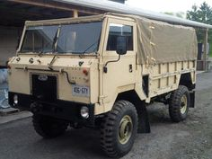 Land Rover 101 forward control originally built between 1972 and '78. Designed to tow a field gun with one ton of ammunition in back, these Buick/Rover V8 powered rigs have since been decommissioned.