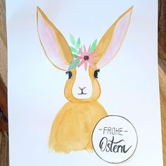 Der Hase ist mit Aquarellfarben gemalt #hasr #bunny #froheostern Pikachu, Instagram, Fictional Characters, Pictures, Happy Easter, Hare, Creative