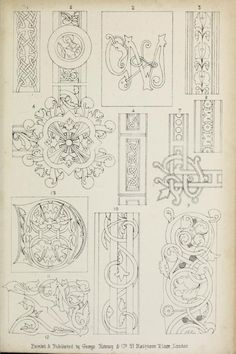 "Sketches for illuminated borders & ornaments. From the book ""Guide to the art of illuminating and missal painting (1862)."""