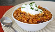 Fall Turkey Chili With Pumpkin - leave out the corn for lower carb.  Leave out the beans for even lower.