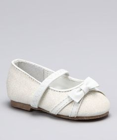 Take a look at this White Glitter Bow Ballet Flat by Blow-Out on #zulily  #fall today!