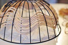 DIY Rope Pendant Lamp Ceiling Light Fixture Disguise