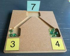 DESCRIPTION:Game related to math. Montessori Math, Preschool Learning Activities, Math Classroom, Kindergarten Math, Teaching Math, Preschool Activities, Kids Learning, Games Related To Maths, Math Games