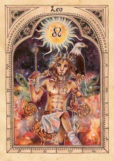 Leo astrology Tarot Card