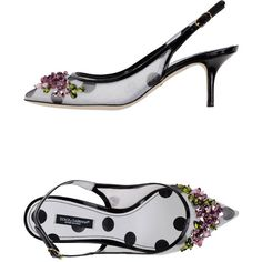 Dolce & Gabbana Pump ($1,056) ❤ liked on Polyvore featuring shoes, pumps, light grey, spiked heel pumps, dot shoes, spiked heel shoes, dolce&gabbana and dolce gabbana shoes