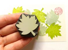 maple leaf stamp. leaf rubber stamp. hand carved by talktothesun, $8.00