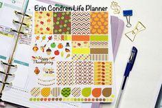 Fall/Thanksgiving Kit for Erin Condren Life by KarolinasKrafts