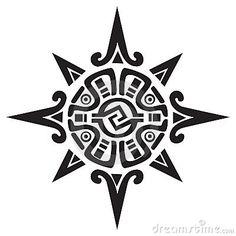 mayan/incan sun tattoo.    Cool but too big-