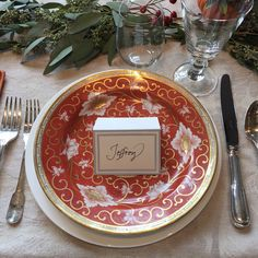 Thanksgiving place setting!