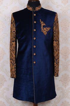 Mature Mens Fashion, Indian Men Fashion, Royal Fashion, Groom Wear, Groom Outfit, Groom Dress, Sherwani Groom, Wedding Sherwani, Indian Man