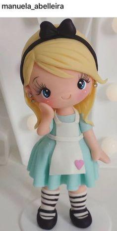 25 Ideas Cupcakes Decoration Ideas Diy Fondant For 2019 Polymer Clay Ornaments, Cute Polymer Clay, Cute Clay, Polymer Clay Dolls, Polymer Clay Miniatures, Polymer Clay Crafts, Fondant People, Fondant Animals, Fondant Decorations