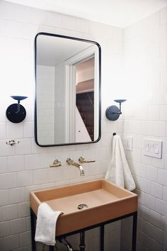 Our Downstairs Bathroom Reveal - Turntable Kitchen @deltafaucet #sponsored Downstairs Bathroom, White Bathroom, Beautiful Kitchens, Beautiful Homes, Eclectic Bathroom, Delta Faucets, Scandinavian Design, Scandinavian Interiors, Bathroom Inspiration