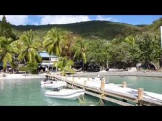 Docking at Foxy's on Jost Van Dyke.  Foxy's is a fantastic bar and restaurant!  It is located on Jost Van Dyke in the British Virgin Islands.  Foxy's is famous among the sailing community!  Simply moor your sailboat and ride your dinghy to shore!  Please share this video and enjoy my other travel videos too!  Have a good day!