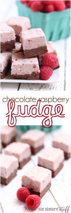 Chocolate Raspberry Fudge - recipe from Six Sisters' Stuff