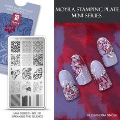 Moyra Stamping Plate Mini Series No. 111 Breaking the silence #moyra #nailart #stamping #plate #miniseries #mini #available #new #koromnyomda #stamper #nyomdazo #nyomda #breakingthesilence #koromdiszites