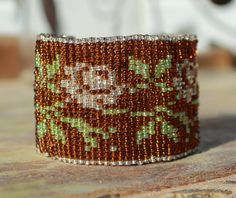 From the treasure boxweaving loom beaded by LoretaBlueMint on Etsy Handmade Jewelry, Unique Jewelry, Handmade Gifts, Treasure Boxes, Loom Weaving, Cuff Bracelets, Beads, Etsy, Vintage