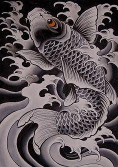 Downloads de desenhos Para tatuagens grátis : Desenhos de tatuagens Carpa para downloads