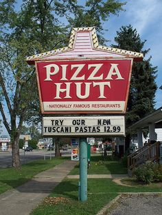 Vintage Pizza Hut sign. Circa 1970s?