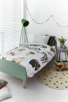 Dekbedovertrek Beddinghouse KIDS Wild Life Grey - NIEUWE COLLECTIE | Duvet cover Beddinghouse | http://www.livengo.nl/beddengoed/dekbedovertrekken | #dekbedovertrekken #kinderkamer #slaapkamer #livengo