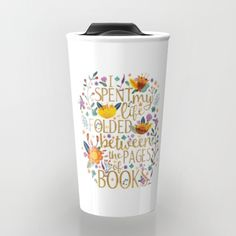 Book travel mug