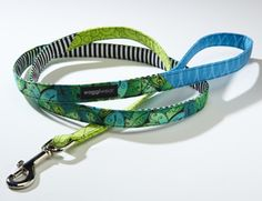 Handmade dog collars and leashes.