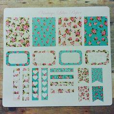 Planner Sticker Set in Vintage Garden: by VintageLilacPaper