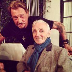 Johnny Hallyday Charles Aznavour