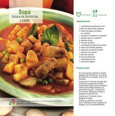 Sopa italiana de salchichas y papas
