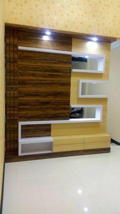 #woodworkingidea Tv Unit Interior Design, Tv Unit Furniture Design, Tv Furniture, Lcd Wall Design, House Ceiling Design, Modern Tv Room, Modern Tv Wall Units, Wardrobe Door Designs, Wardrobe Design Bedroom