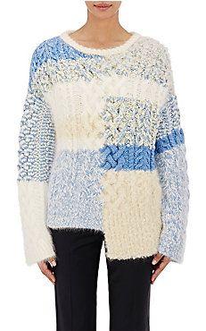 Cable-Knit & Bouclé Sweater
