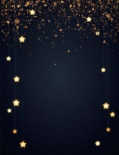 Christmas background design with yellow glowing stars and gold glitter or confetti. Dark backdrop with space for text. Vector flyer or banner template. Cute Pink Background, Black Background Wallpaper, Photo Background Images, Photo Backgrounds, Wallpaper Backgrounds, Vector Background, Sparkles Background, Background Designs, Black Backgrounds