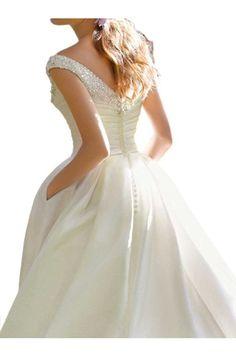 Milano Bride Vintag Elfenbein V-ausschnitt Hochzeitskleider Brautkleider Brautmode mit Strass Stickreien A-linie Kurz-32 Elfenbein